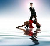 image of bolero  - Young dancers in latin dance pose - JPG