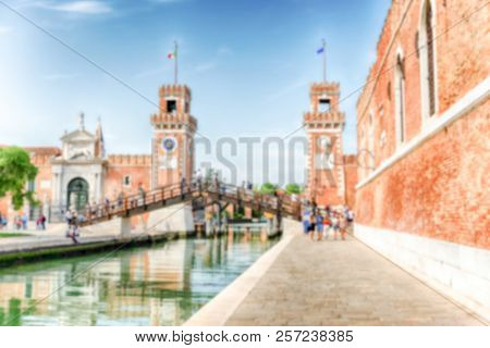 Defocused Background With Entrance To
