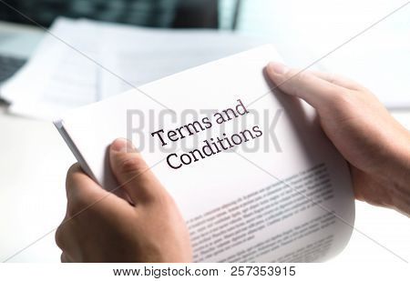 Terms And Conditions Text In