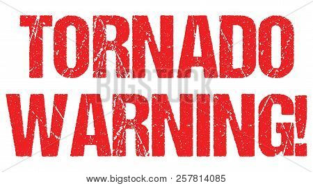 Tornado Warning Sign Weather Alert