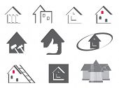 House and repair. Abstract element set of logo templates.