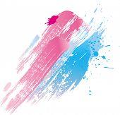 Постер, плакат: На фоне брызги краски и кисти линии Вектор