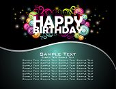 picture of happy birthday  - Happy Birthday abstract design background - JPG