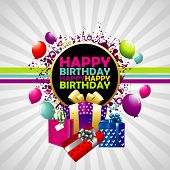 stock photo of happy birthday  - Happy Birthday colorful background - JPG