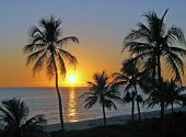 image of beach sunset  - a beautiful sunset on Sanibel Island Florida - JPG