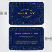 Wedding Invitation Card Or Template For Save The Date, Member Card, Birthday Card, Greeting Card. Ve poster