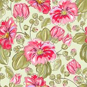 seamless retro Background mit rosa mallow