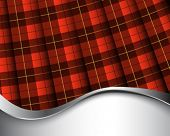 stock photo of kilt  - Background with pleated Wallace tartan - JPG
