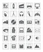 vector icons for web applications. computers, photo, video, audio.