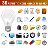 vector realistic icons (ready to use)
