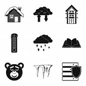 Warm House Icons Set. Simple Set Of 9 Warm House Icons For Web Isolated On White Background poster