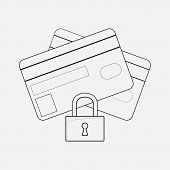 Secure Payment Icon Line Element. Vector Illustration Of Secure Payment Icon Line Isolated On Clean  poster