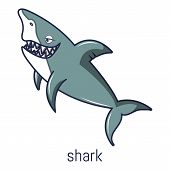 Shark Icon. Cartoon Illustration Of Shark Icon For Web poster