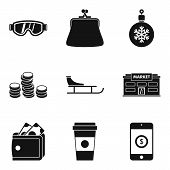 Cool Down Icons Set. Simple Set Of 9 Cool Down Icons For Web Isolated On White Background poster