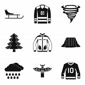 Sport Adventure Icons Set. Simple Set Of 9 Sport Adventure Icons For Web Isolated On White Backgroun poster