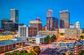 Tulsa, Oklahoma, USA downtown city skyline at twilight. poster