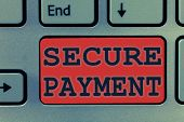 Writing Note Showing Secure Payment. Business Photo Showcasing Security Of Payment Refers To Ensure  poster