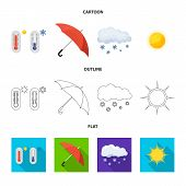 Vector Design Of Weather And Weather Logo. Collection Of Weather And Application Stock Symbol For We poster