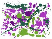 Watercolor Paint Stains Grunge Background Vector. Rusty Ink Splatter, Spray Blots, Mud Spot Elements poster