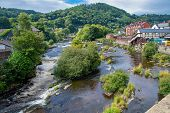 Scenic View Of The River Dee At Llangollen In Wales poster