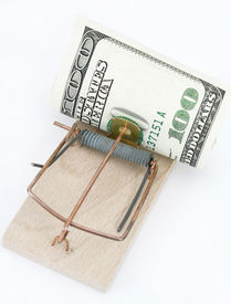 picture of mouse trap  - mouse trap with dollars - JPG