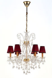 picture of light fixture  - crystal chandelier on a white background - JPG