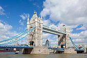 London River Thames and Tower Bridge International Landmark of England United Kingdom poster