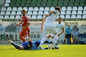 KAPOSVAR, HUNGARY - AUGUST 4: Vukasin Poleksic (goalkeeper) in action at a Hungarian National Champi