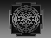 Sri Yantra (Sri Chakra) illustration. Please search the web for more information about this difficul