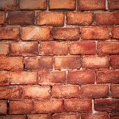 image of swastika  - Nazi swastika on the brick wall - JPG