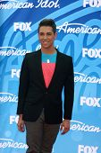 LOS ANGELES - MAY 16:  Lazaro Arbos arrives at the American Idol Seaon 12 Finale at the Nokia Theate