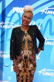 LOS ANGELES - MAY 16:  Emeli Sande arrives at the American Idol Season 12 Finale at the Nokia Theate