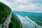 image of perm  - View of the Vishera river from the Vetlan cliff - JPG