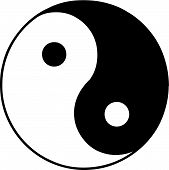 stock photo of ying yang  - Vector illustrated ying and yang symbol on white background - JPG