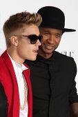 LOS ANGELES - DEC 18:  Justin Bieber, Usher at the