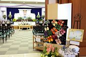 image of funeral home  - Funeral home interior of traditional japanese style - JPG