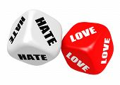 Love hate dices