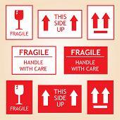 picture of fragile sign  - Fragile Shipping Labels - JPG