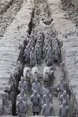 stock photo of qin dynasty  - Beautiful view of the terracotta army in Xian China - JPG