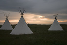 picture of tipi  - Three tipi - JPG