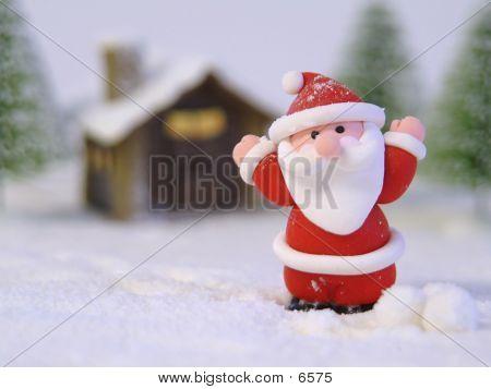 Santa In Snow poster
