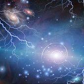 foto of quantum  - Time Space Quantum Particles - JPG