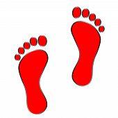foto of carbon-footprint  - black footprint  - JPG