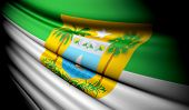 stock photo of rn  - This is an illustration of folded flag of Brazil  - JPG
