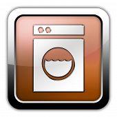pic of laundromat  - Icon Button Pictogram Image Illustration with Laundromat symbol - JPG