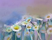 pic of abstract painting  - Gerbera flower oil painting - JPG