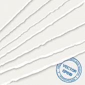 picture of rip  - White torn paper corner sheets - JPG