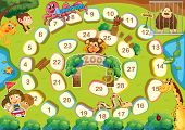 foto of zoo  - Zoo themed board game with numbers - JPG
