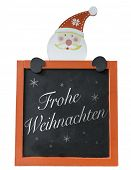 stock photo of weihnachten  - Christmas Blackboard written Merry Christmas  - JPG