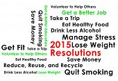 stock photo of quit  - Resolution for the new year 2015 new start - JPG